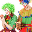 Stock Photo: Inequity in world of clowns