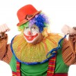 Stock Photo: Portrait of an aggressive clown