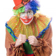 Portrait of an angry clown - Stock Photo