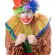 Royalty-Free Stock Photo: Portrait of an angry clown