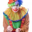 Stock Photo: Portrait of an evil clown