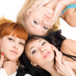 Three young pretty women — Stock Photo