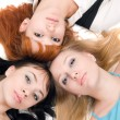 Three young women — Stock Photo