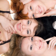 Three joyful women — Stock Photo