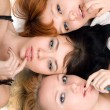 Three playful women — Stock Photo