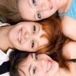 Three cheerful women — Stock Photo