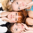 Three attractive women — Stock Photo