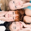 Three women — Stock Photo