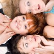 Three excited women — Stock Photo
