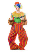 Funny smiling clown — Stock Photo