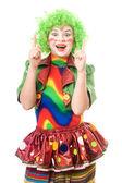 Portrait of female clown — Stock Photo