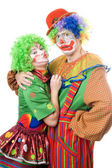 Couple of funny clowns — Стоковое фото