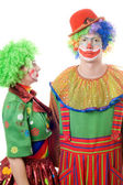 A couple of serious clowns — Stock Photo