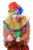 Portrait of an evil clown — Stock Photo