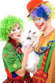 Deux souriant clown — Photo