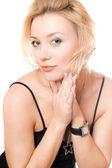 Portrét krásná mladá blondýnka — Stock fotografie