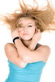 Portrait of sexy blond girl — Stock Photo