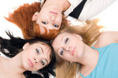 Three young women — Foto Stock