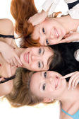 Three joyful women — Stockfoto