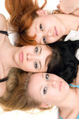 Three thoughtful women — Foto Stock