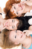 Three naughty women — Stock Photo