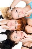 три привлекательных женщин — Стоковое фото