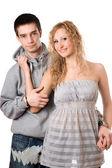 Nice cheerful couple — Stock Photo