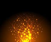 Feuer funkelnd Hintergrund — Stockvektor