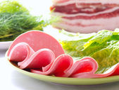 Sliced sausage — Stock Photo