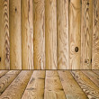 Wooden floor and wall — Stock Photo