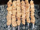 Shish kebab preparation3 — Stock Photo