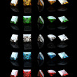 Collections of square gemstone — Stock Photo