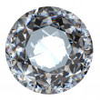 Round brilliant cut diamond perspective isolated — Stock Photo #5489525