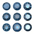 Set of round blue sapphire — Stock Photo