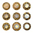Stock Photo: Set of round citrine