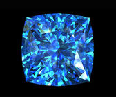 Jewelry gems shape of square. Swiss blue topaz — Stock Photo
