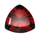 Jewelry gems shape of trillion. Ruby — Stock Photo