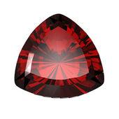 Jewelry gems shape of trillion. Ruby — Stock Photo