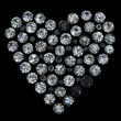 Set of round diamond  shape of heart - Photo