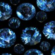 Set of round swiss blue topaz. Gemstone - Lizenzfreies Foto