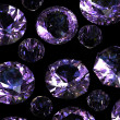 Set of round amethyst. Gemstone - Stok fotoraf
