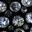 Set of round diamond isolated. Gemstone - Stok fotoraf