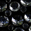 Stock Photo: Set of round diamond isolated. Gemstone