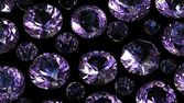 Set of round amethyst. Gemstone — Stock Photo