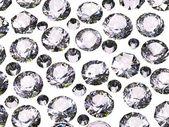Set van ronde diamant. edelsteen — Stockfoto