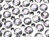 Conjunto de diamante redondo. gemstone — Foto Stock