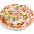 Pizza on white background — Stock Photo