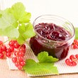 Jam with red currant — Stock Photo