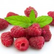 Raspberries with mint — Stock Photo