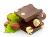 Chocolate with nuts — Stok fotoğraf